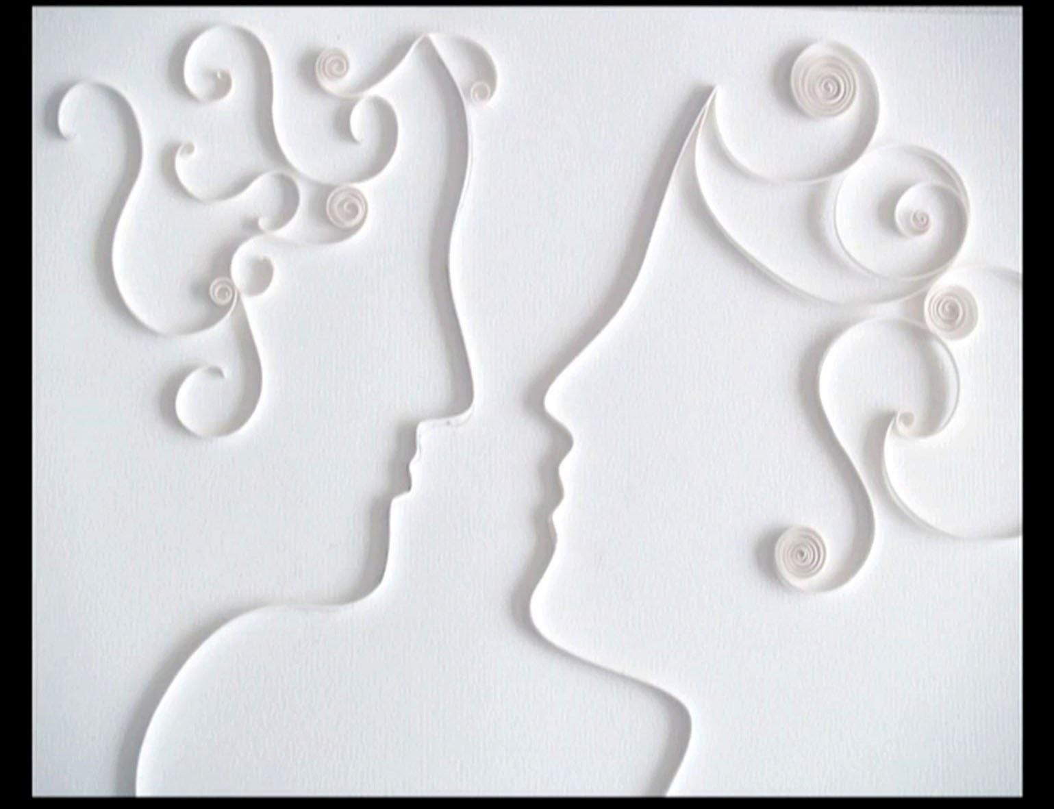 Quilled Wedding Card Tutorial - Faire-part de Mariage en Papier Roulé
