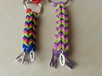 RAINBOW LOOM KEY CHAIN - How to Easy