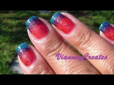 Sunday Nails: OPI Liquid Sand Gradient Design!