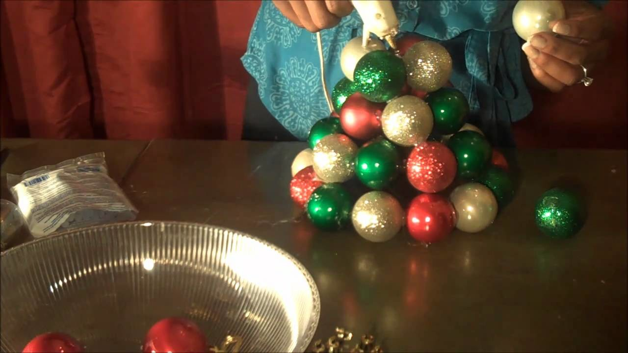 Super Fantastic and Easy to Make Ornament Tree (using Dollar Tree Materials) !!
