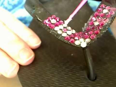 Swarovski Crystal Flip Flop Video:  Blocks Tutorial - Part 3