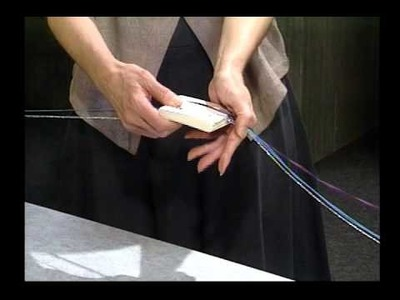 Tablet Weaving:  How to make a continuous warp