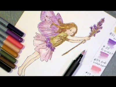 Tutorial fairy with watercolor pencils and blender pen