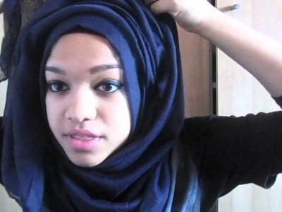 Voluminous messy layered hijab tutorial (my everyday hijab style)