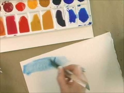 Watercolor Techniques with Acrylic Paint - How to Paint a  Wash