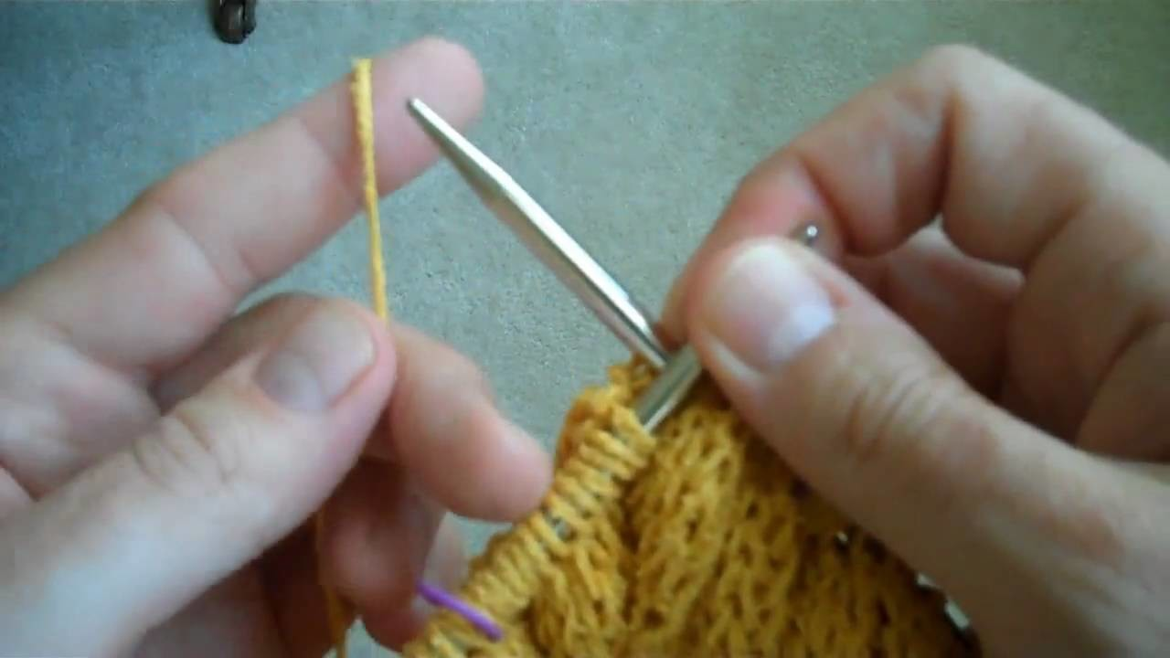 Applied i-cord Bind-off part 1