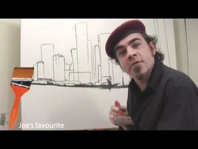 Art Lesson: How to Paint a City using Acrylic Paint