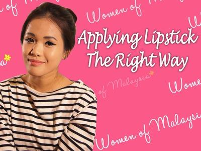 Beauty 101: Applying Lipstick The Right Way