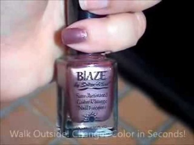 Blaze UV Color Change Nail Polish by SolarActive