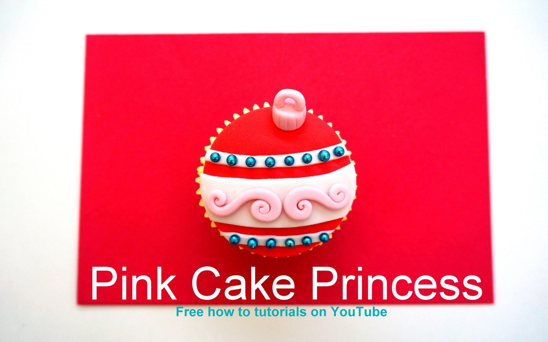 Christmas Cupcakes - How-to Make a Christmas Bauble Cupcake or Ball Ornament Cupcake