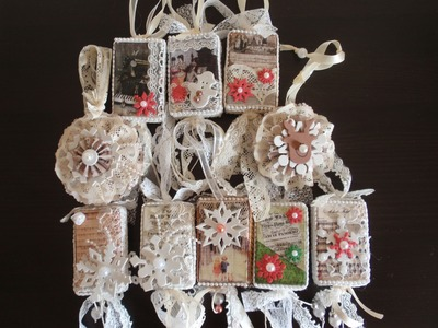 Christmas Ornaments with vintage images-So Shabby Chic (Tutorial)