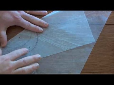 Conics - Making a Hyperbola with Wax Paper