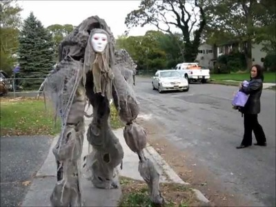 Creepy Creature quad Stilt Costume Halloween 2011 - Handmade