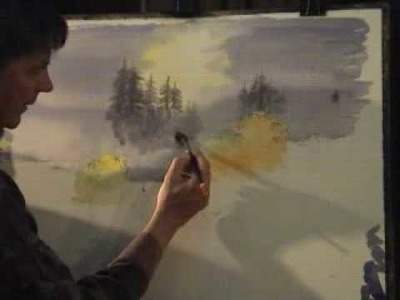 David Bellamy paints a waterfall in watercolour Part 1