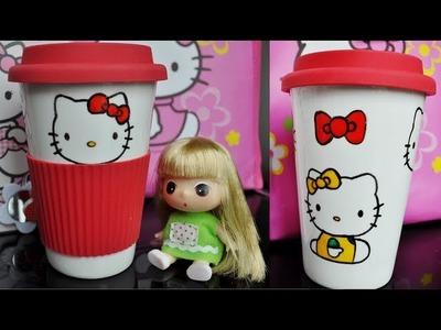 DIY Hello Kitty Travel Mug (gift for him and her)