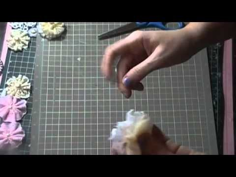 Flower Tutorial - What I use in place of Prima Cassie Powder Puffs
