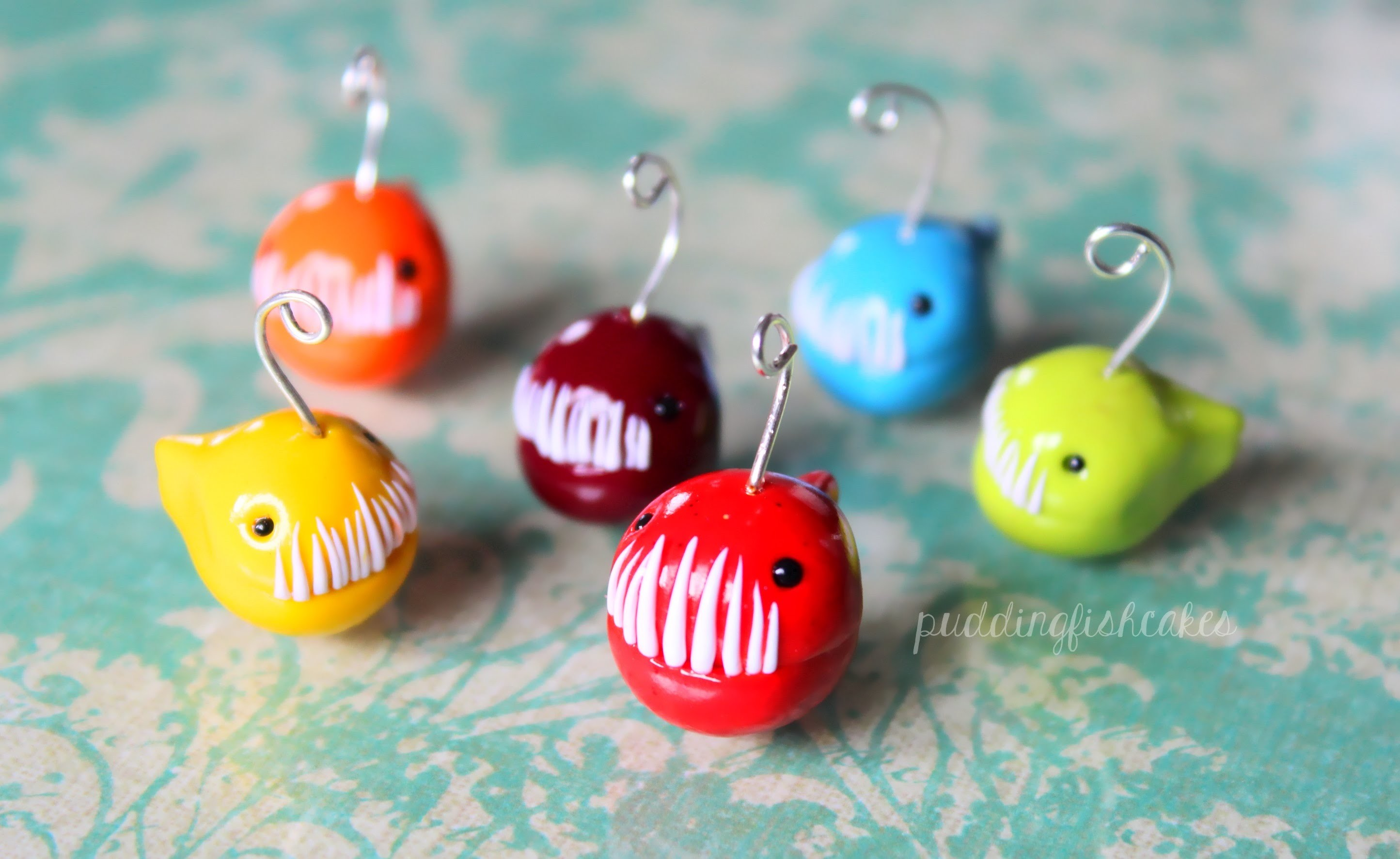 Hanklerfish.Anglerfish Polymer Clay Charm Tutorial