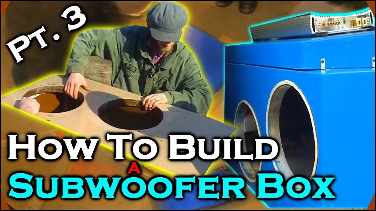 "How To Build A Subwoofer Box 3 | Beginner Car Audio Tutorial - Dual 12"" Custom Ported Sub Enclosure"