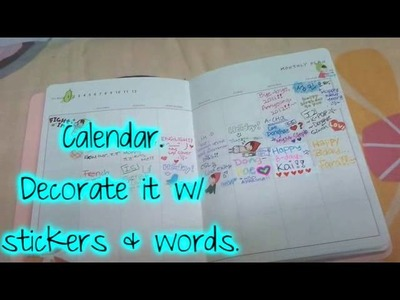 How to decorate your diary .