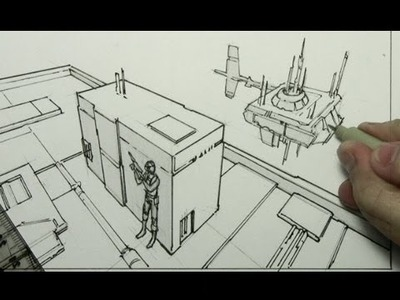 How to Draw Backgrounds (3-Point Perspective)
