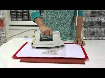 How to iron a Hot Fix Motif