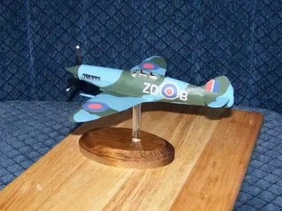How to make a cool -   SUPER MARINE SPITFIRE   Paper  Airplane Model