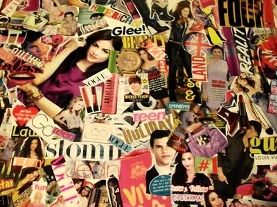 How to make a magazine collage