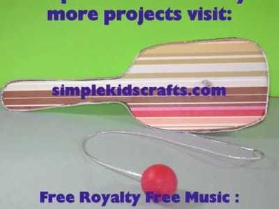 How to Make  a Paddle ball game with recycled cardboard - EP