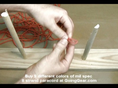 How to make a paracord fast rope