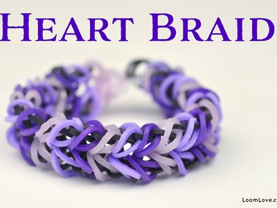 How to Make a Rainbow Loom Heart Braid Bracelet