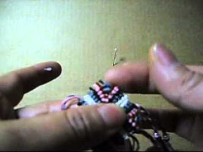How To Make a Square Macrame Earrings With thread-5.wmv