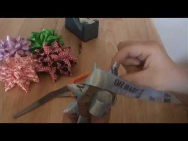 How to Make a Star Gift Bow with Cloth Ribbon.wmv