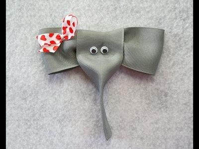 How to make an ELEPHANT ribbon hair clip