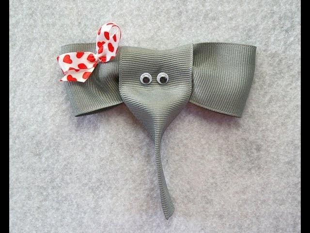 How to make an ELEPHANT ribbon hair clip