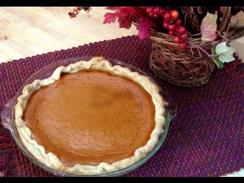 How to Make Homemade Pumpkin Pie from Scratch - Recipe Laura In The Kitchen Episode 63