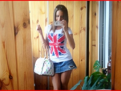 Jean Skirt + Union Jack Outfit Of The Day♡OOTD 40