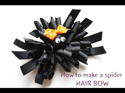 Kennedy's itty bitty spider clippies HOW TO MAKE SPIDER HAIR BOW HALLOWEEN