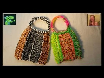 Lacy Dragon Scale Purse on Rainbow Loom Re-size-able and line-able pattern - Revisited