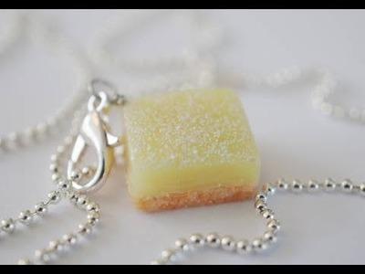 Lemon Bar Tutorial, Miniature Food Tutorial, Polymer Clay