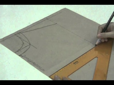 Lesson 2-29  EXTRA LARGE Front Bodice Part 1a - PATTERN MAKING OF A BASIC DRESS WITH WAISTLINE