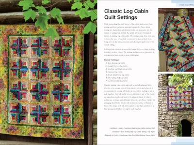 Look Inside The Book: Log Cabin Quilts The basics & beyond