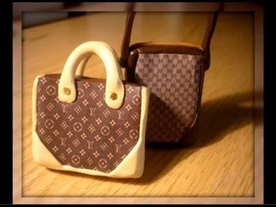 Louis Vuitton Polymer clay Bag - Tutorial borsa Louis Vuitton in Fimo