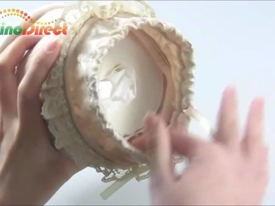 Luxury Lace Round Fabric Car Tissue Box Case Cover Container - dinodirect