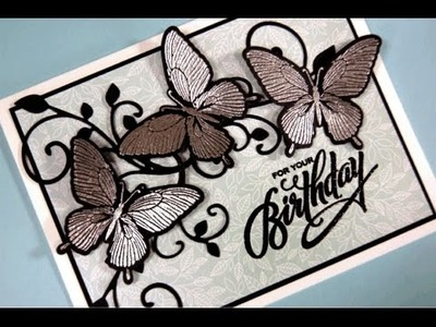 Metallic Butterflies Card Project