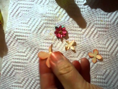 Mini Poinsettia paper flower tutorial.