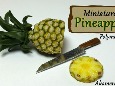Miniature Pineapple - Polymer Clay Tutorial
