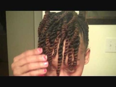 Natural Hair: Side twist with  two strand  updo