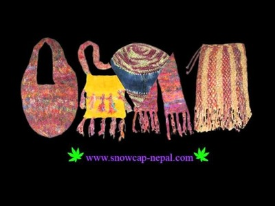 Nepal Handmade Hemp Jute Silk items