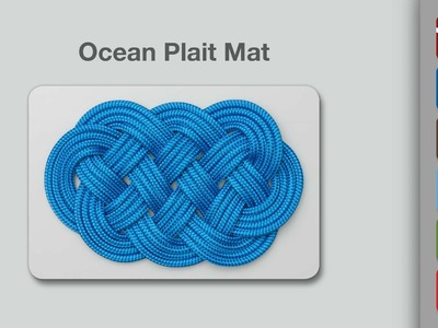 Ocean Plait Mat Knot | How to Tie an Ocean Plait Mat