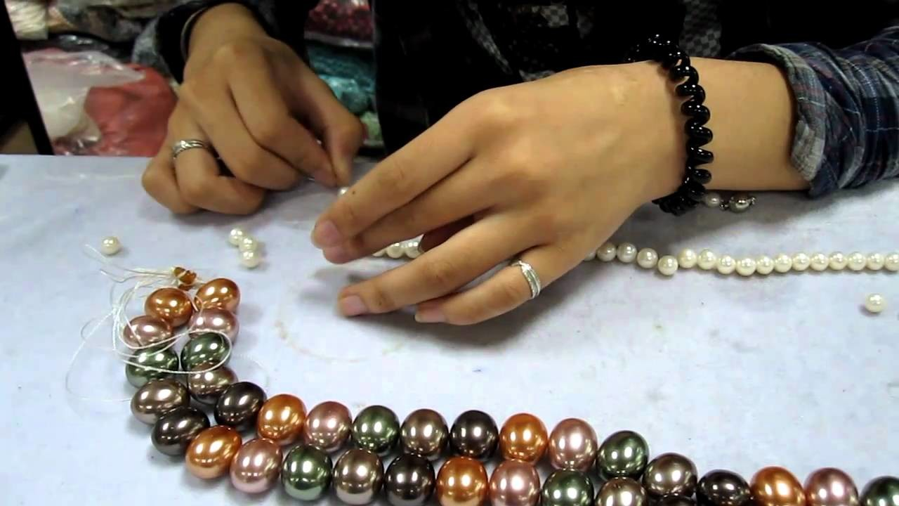 Pearl Necklace Stringing from Pearlwarehouse.com